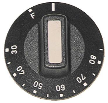Knebel für Thermostat ø 50mm Symbol 30-85°C mit Abflachung oben