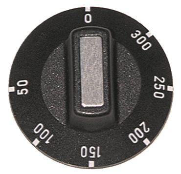 Knebel für Thermostat ø 50mm Symbol 50-300°C schwarz