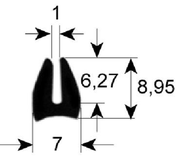 Fensterdichtung für Kombidämpfer Länge 5400mm Profil 1560