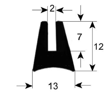 Angelo-Po Fensterdichtung Länge 1800mm für Heißluftofen Elektro