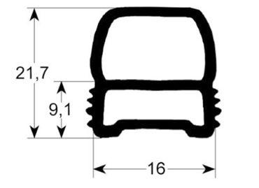 Alpeninox Türdichtung Länge 1.321mm Breite 627mm Profil 2447
