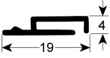 Türdichtung für Spülmaschine Comenda FC, LF320LA, LF450A