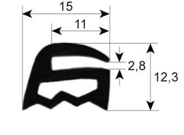 Convotherm Fensterdichtung für Kombidämpfer OD10.20, OD6.10