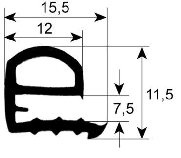 Rational Fensterdichtung für Kombidämpfer CCD101 Länge 745mm
