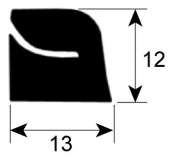 Capic Fensterdichtung 3786308 Profil 1893 VPE Meterware