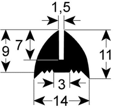 Electrolux Fensterdichtung für Kombidämpfer Elektro 97640502