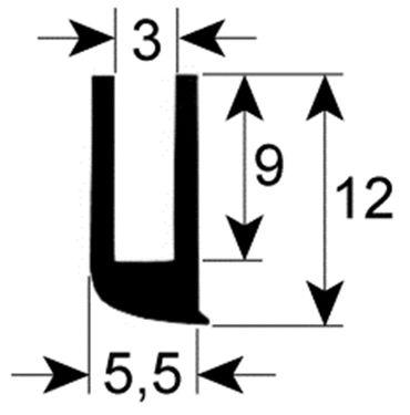 Convotherm Fensterdichtung für Kombidämpfer AR18, AR12, AR8