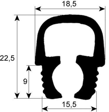 Electrolux Hordenwagendichtung Länge 658mm für Kombidämpfer