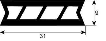 MKN Hordenwagendichtung Länge 645mm für Kombidämpfer