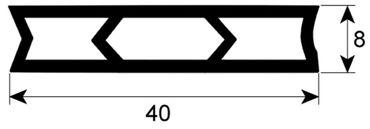 Emmepi Hordenwagendichtung für Kombidämpfer Silikon Profil 4065