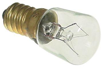 Glühlampe max. Temperatur 300°C E14 230V 15W Länge 48mm ø 22mm