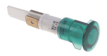Signallampe grün ø 13mm 250V Anschluss steckbar