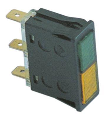 Animo Signallampe grün/gelb 230V Einbaumaß 34x12mm FC-2x5L