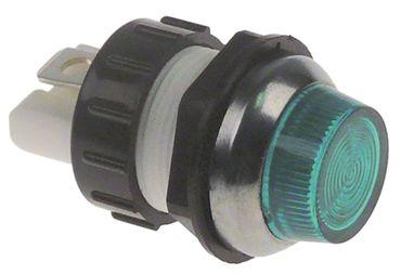 Lincat Signallampe grün ø 19mm 230V Anschluss Flachstecker 6,3mm