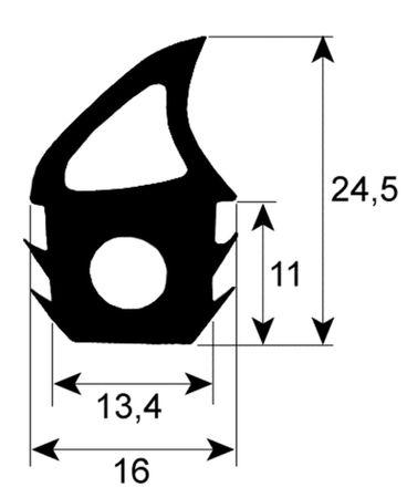 Bake-Off Türdichtung für Kombidämpfer 6TTR Profil 2746