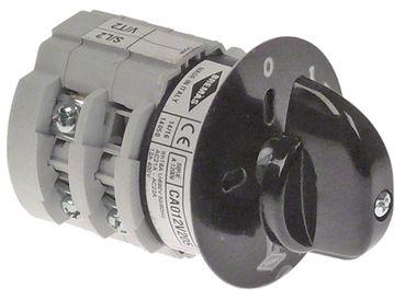 BREMAS CA012V205 Drehschalter 3-polig 400V 0-1-Taster Achse 5x5mm