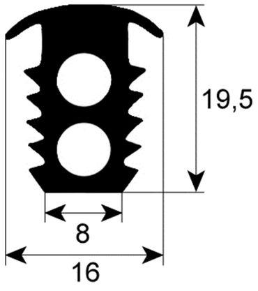Eloma Türdichtung für C, B, EB30, EDB 6-23 Profil 2775