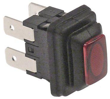 Druckschalter mit Schutzhaube 250V 2NO rot 2-polig beleuchtet 16A