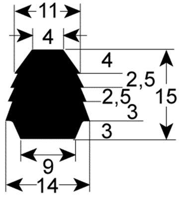 Alpeninox Ofendichtung Länge 2130mm Profil 2446