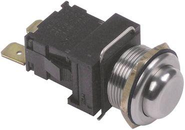 Druckschalter 250V 1NO silber Anschluss Flachstecker 6,3mm 1-polig