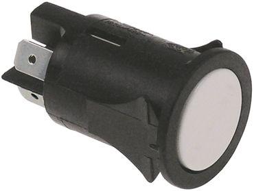 Druckschalter 250V 2NO weiß Anschluss Flachstecker 6,3mm 2-polig