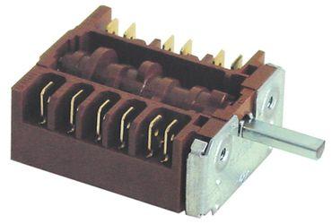 EGO Nockenschalter 3-polig für Gasherd Achse ø 6x4,6m x 23mm