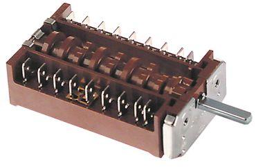 EGO 42.04000.021 Nockenschalter 8-polig Achse ø 6x4,6x23mm 8NO