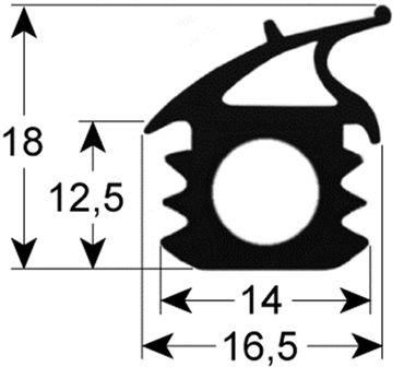 Alpeninox Türdichtung Länge 634mm Breite 474mm Profil 2762