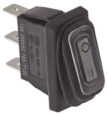 Wippenschalter mit Faltenbalg 1-polig 230V 1NO weiß beleuchtet