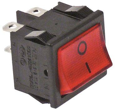 Wippenschalter 2-polig 250V 2NO rot Anschluss Flachstecker 4,8mm