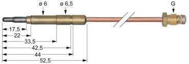 Emmepi Thermoelement Steckhülse ø6,0(6,5)mm M8x1 Länge 600mm