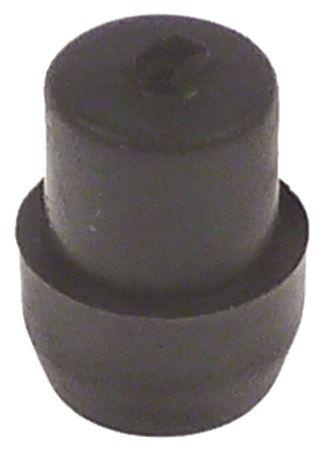 Fuß Höhe 9mm Bohrung ø 3mm 3mm ø 14mm Einbau 12mm H1 20mm