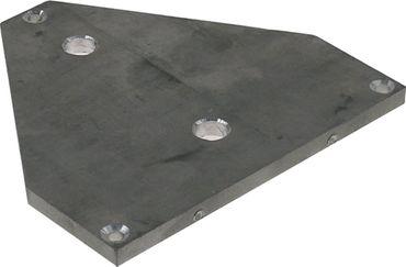 Cookmax Verbindungsplatte für Hot-Dog-Gerät HD-01 Aluminium