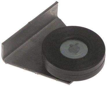 Laufrolle Rolle ø 30mm EP oben vorne CNS/Kunststoff Breite 8mm