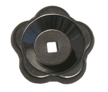 Sterngriff ø 80mm schwarz für Achse 9x9mm Länge 23mm