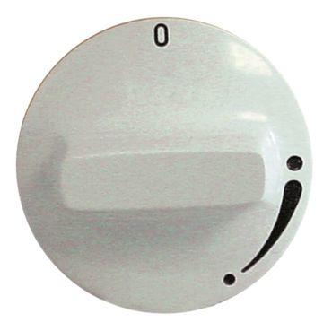 Heidebrenner Knebel für Gashahn ø 50mm Symbol ohne Zündflamme