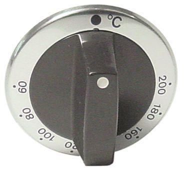 Alpeninox Knebel für Thermostat ø 63mm Symbol 60-200°C silber