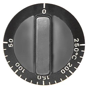 Alpeninox Knebel für Thermostat ø 55mm Symbol 50-250°C schwarz