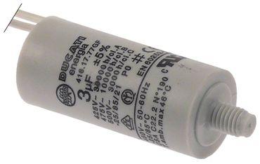 Betriebskondensator 416.17.77GF mit Kunststoffmantel 3µF 450V