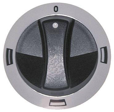 Electrolux Knebel für JUN90042, JUN75029 ø 77mm schwarz/weiß