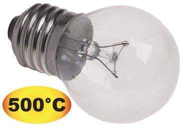 Glühlampe max. Temperatur 500°C E27 240V 40W Länge 72mm ø 45mm