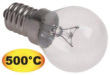 Glühlampe K4500 max. Temperatur 500°C E14 240V 40W Länge 75mm