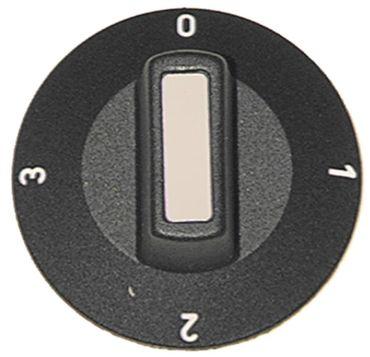 Alpeninox Knebel ø 50mm Symbol Schalter 4-Takt schwarz