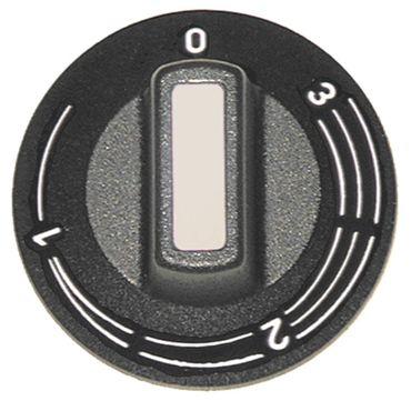 Eloma Knebel für Energieregler ø 50mm Symbol 1-3 schwarz