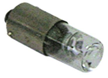 Franke Glimmlampe Ba9s 230V für Kaffeemaschine Länge 25mm ø 9mm