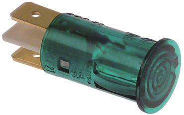 Signallampe grün ø 12,5mm 230V Anschluss Flachstecker 6,3mm