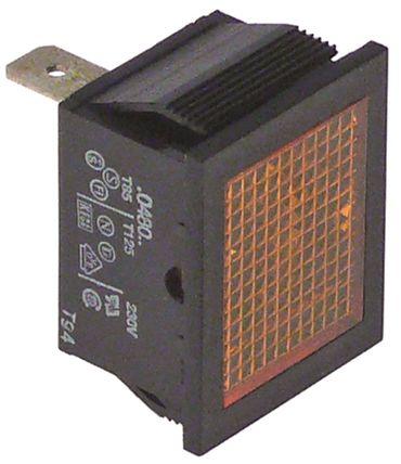 Ambassade Signallampe gelb 230V Einbaumaß 27,2x22,2mm CFE714RT