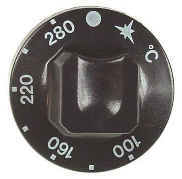 Alpeninox Knebel für Gasthermostat ø 55mm Symbol 280°C schwarz