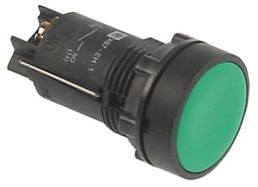 Druckschalter 250V 1NO grün Schraubanschluss 1-polig 10A IP40
