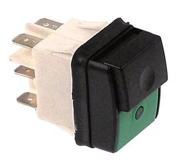 Druckschalter für Aufschnittmaschine 250V 2CO schwarz/grün 16A